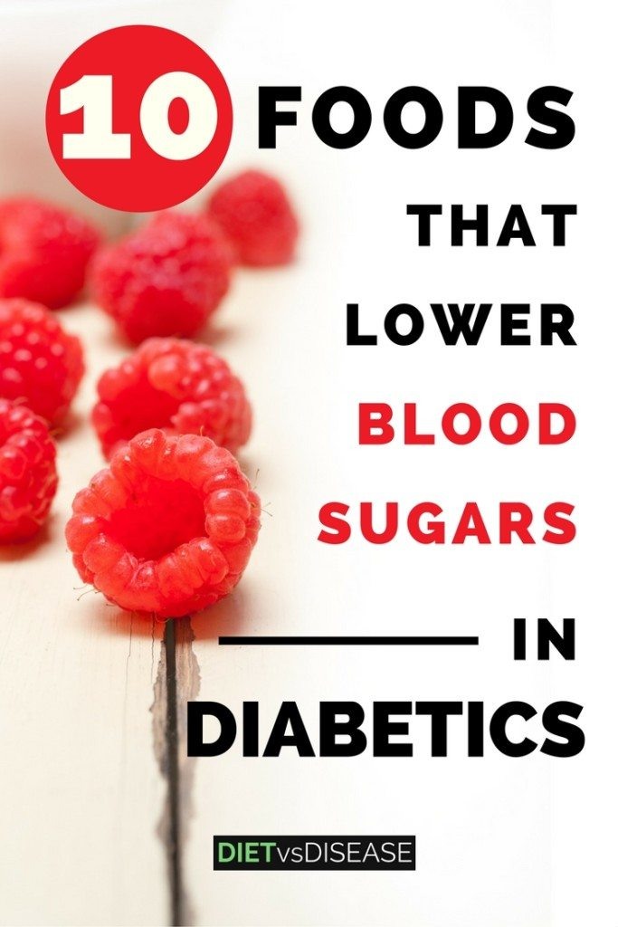 This articles looks at 10 of the best foods and supplements to lower blood sugars in diabetics, based on current research. Learn more here: https://www.dietvsdisease.org/foods-lower-blood-sugars-diabetics/