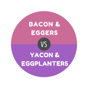BACON & EGGERS vs YACON & EGGPLANTERS
