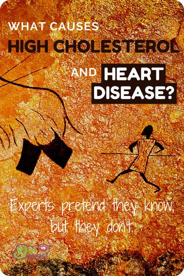 What causes high cholesterol and heart disease