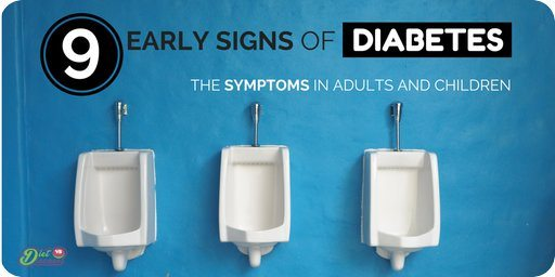 9 Early Signs of Diabetes: The Symptoms In Adults and Children