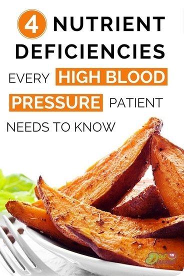 Nutrient deficiencies with high blood pressure