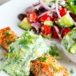 Greek Style Salmon with Avocado Tzatziki 800 9435