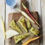 Kale ricotta and squash omelette