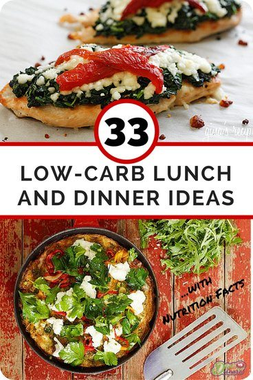 33 Low Carb Lunch and Dinner Ideas- With Nutrition Facts. Repin this and then click through to get some great new ideas: https://www.dietvsdisease.org/33-low-carb-lunch-and-dinner-ideas/