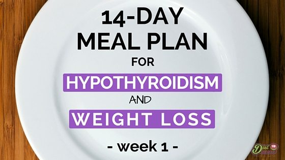 MEAL PLAN FOR HYPOTHYROIDISM week 1