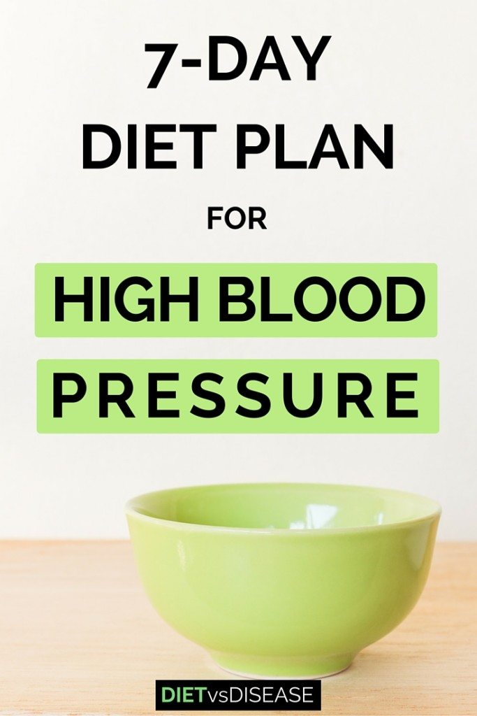 7 Day Diet Plan For High Blood Pressure Dietitian Made