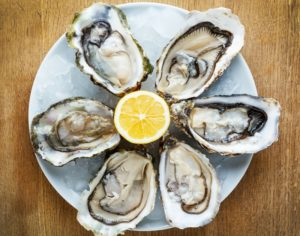 Oysters is a source for Zinc