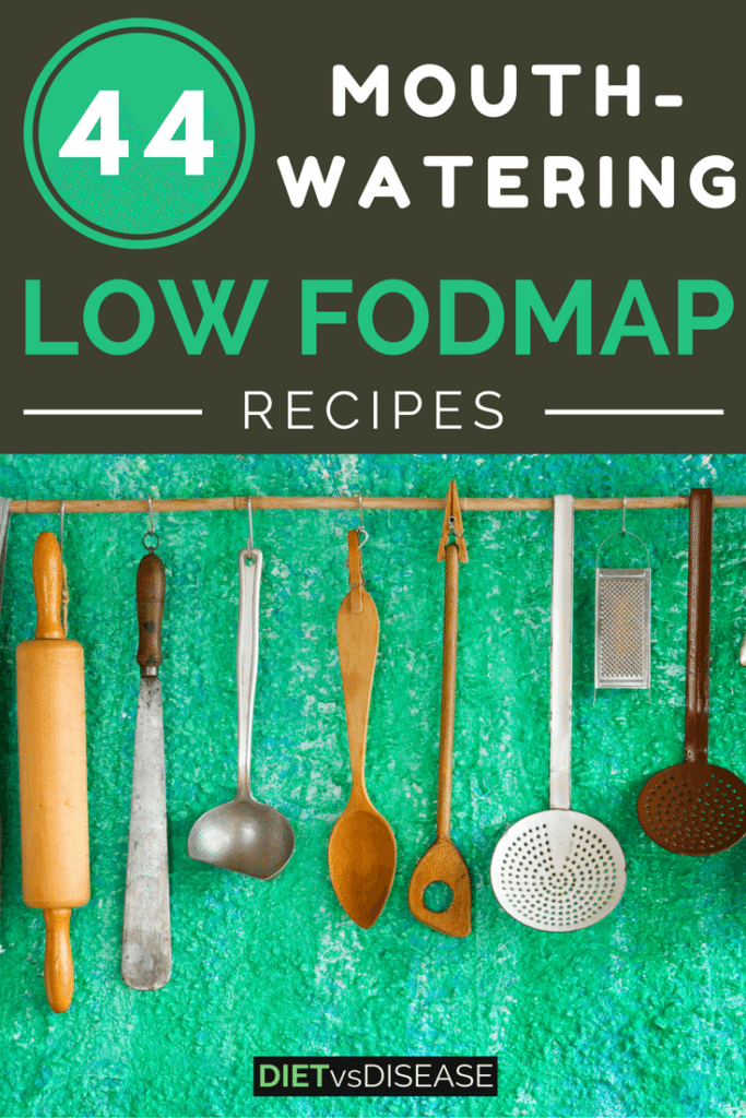 This is a round-up of 44 delicious low FODMAP recipes for IBS. Recipes are categorised under breakfast, lunch, dinner, snacks and desserts.