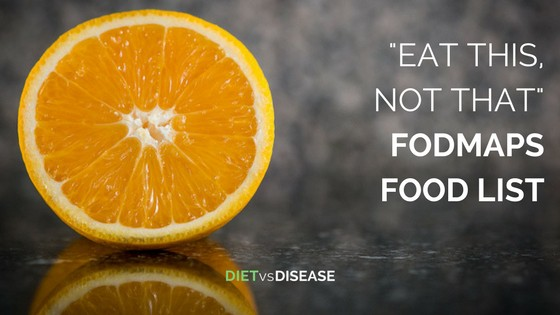 EAT this not that low FODMAP food list