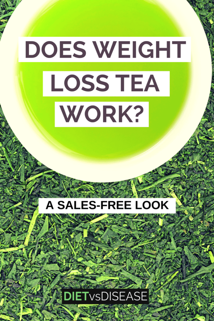 Weight loss teas claim to suppress appetite, increase fat burning and boost metabolism. This article takes a sales-free look at if they actually work: https://www.dietvsdisease.org/does-weight-loss-tea-work/