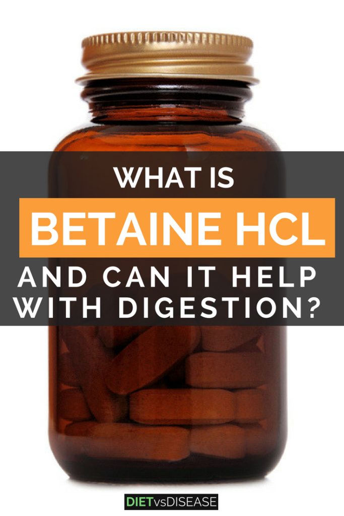 Betaine HCl is linked with many health claims, particularly improving poor digestion. But are these claims true? This article explores the current evidence: https://www.dietvsdisease.org/betaine-hcl/