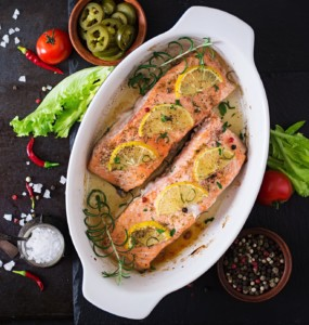 Cook Oven-baked salmon