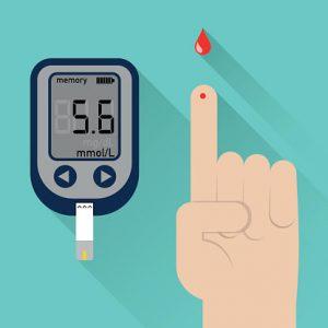 Blood glucose finger prick test