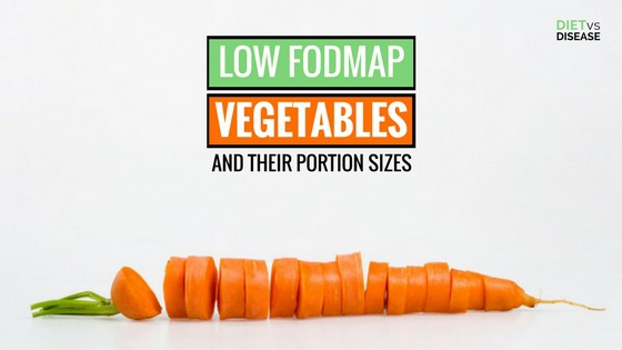 LOW FODMAP VEGETABLES AND THEIR PORTION SIZES