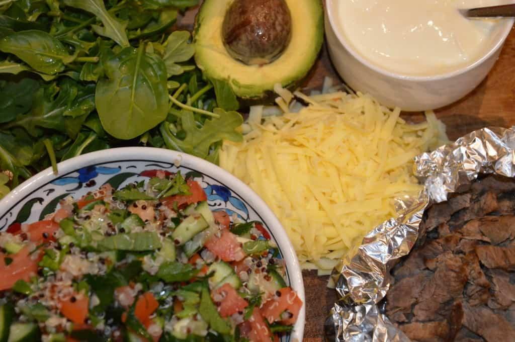 Lamb Wraps with Quinoa Tabbouleh