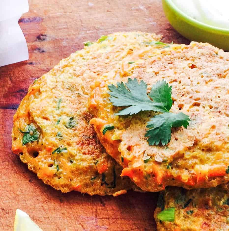 Curry quinoa fritters with low FODMAP aioli