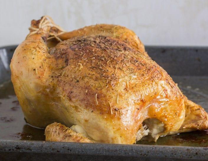 Orange Rosemary Roast Chicken