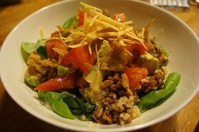 Tasty taco tempeh salad