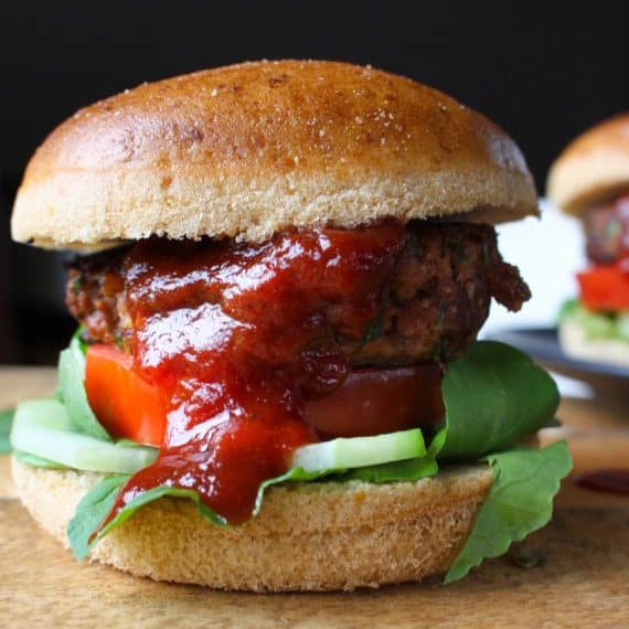 Beef Burgers with BBQ Sauce