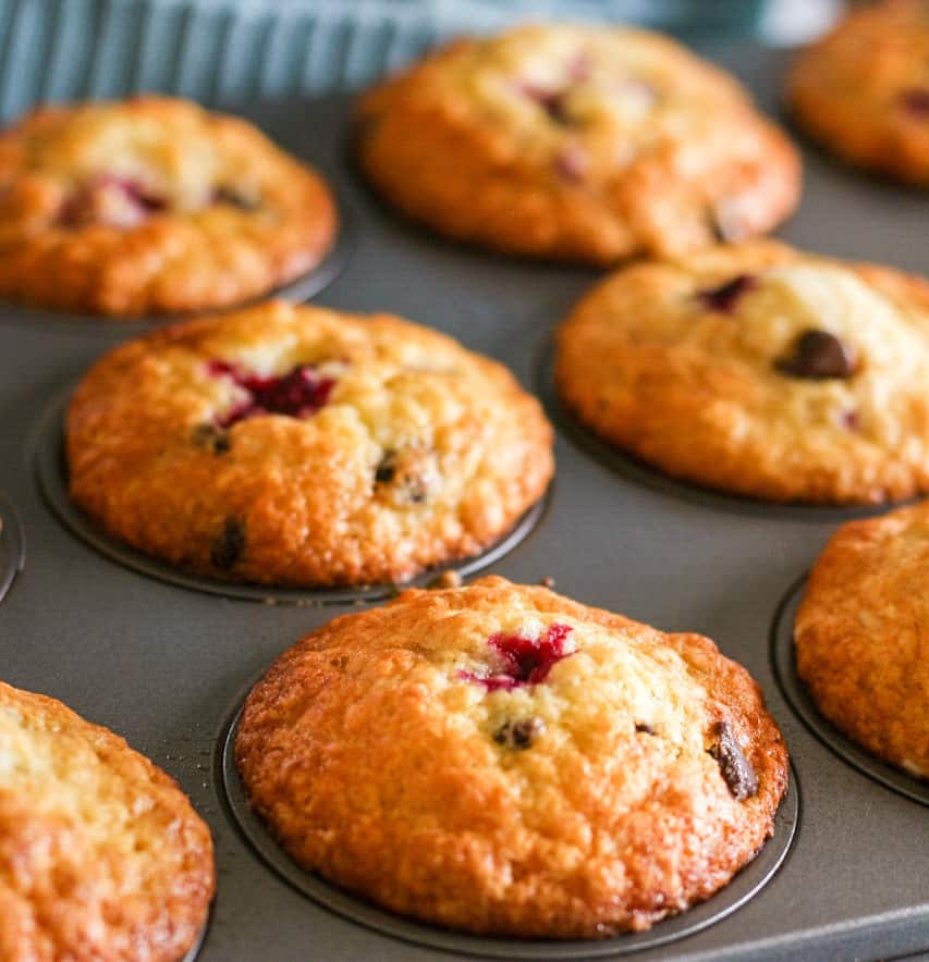 Dark Chocolate and raspberry muffins