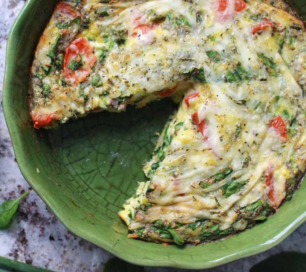 Pizza flavoured frittata