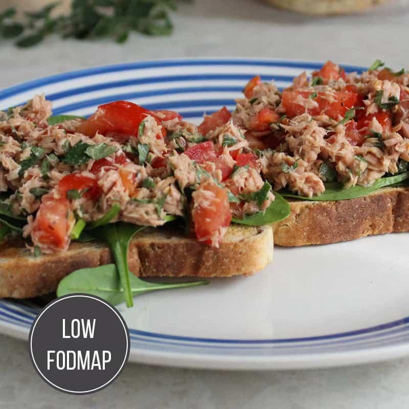 Tuna, Tomato & Oregano On Toast