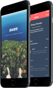 aware mindfulness meditation phone app