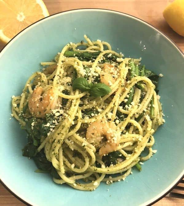 Prawn & Pesto Spaghetti