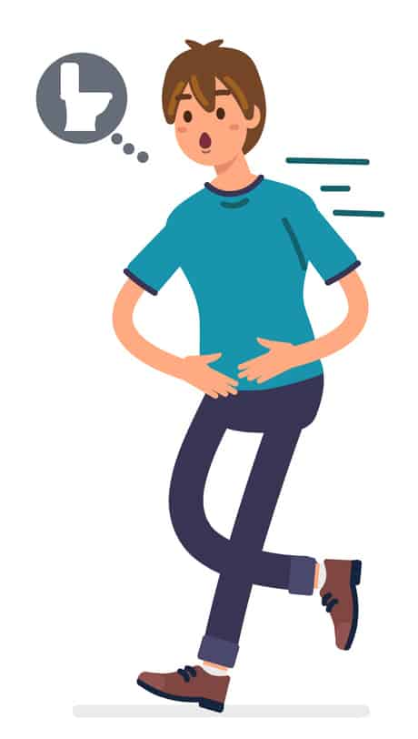 How do you screen someone who presents you with symptoms of irritable bowel syndrome (IBS)?