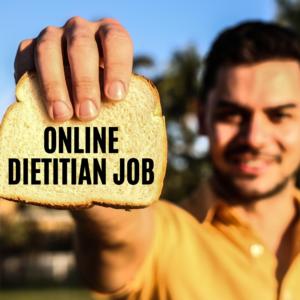 online dietitian job